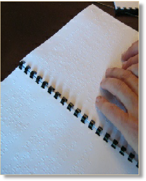 Braille document with comb binding