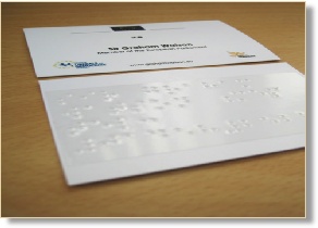 Tactile maps pictures braille stickers braille self adhesive label on a business card tactile colourmoves